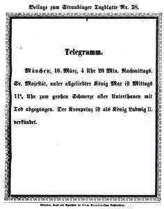 11.03.1864 Tod König Maximilian